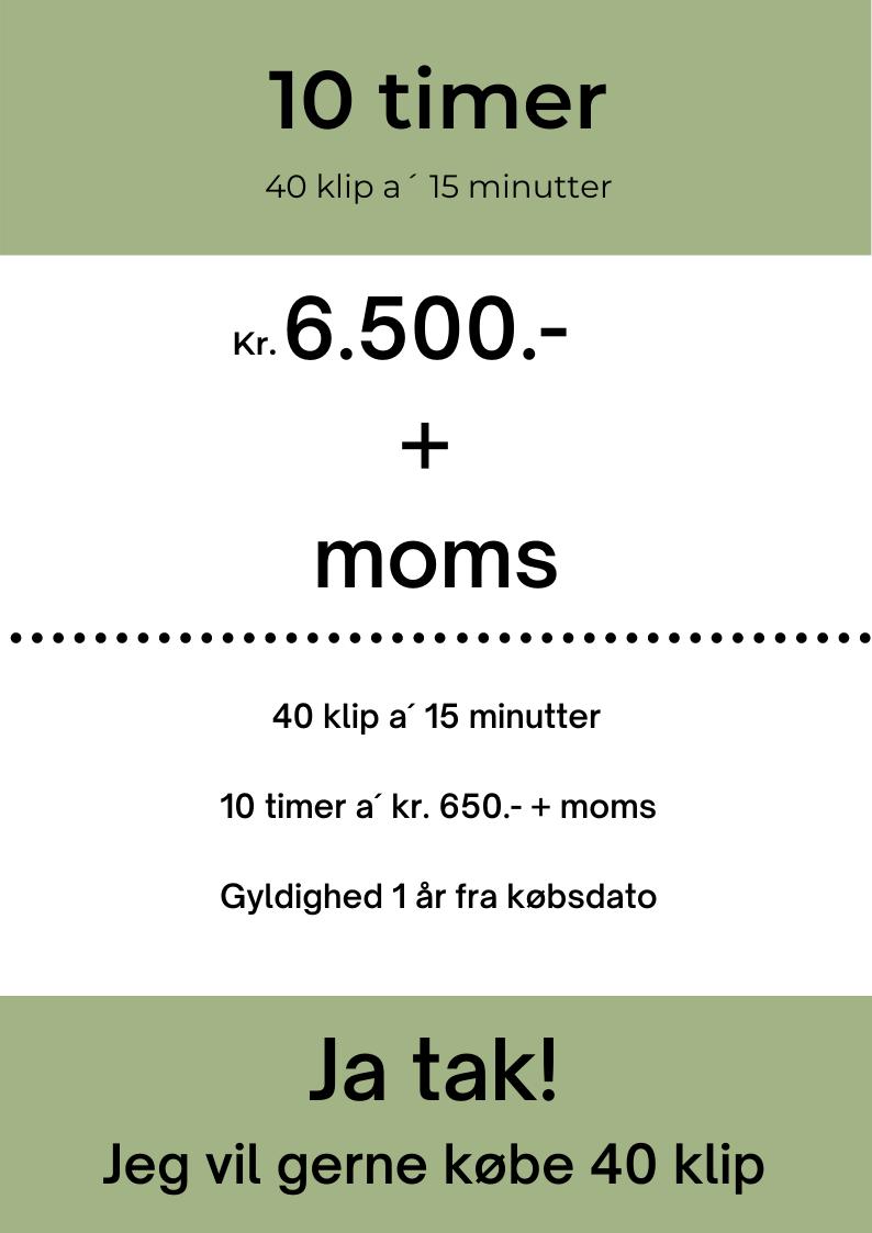 Klippekort 10 timer, priser, mbyomarketing.dk